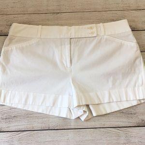 BCBG MaxAzria White Symon cuffed shorts L